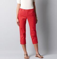 Petite Julie Casual Cotton Cropped Pants, LOFT