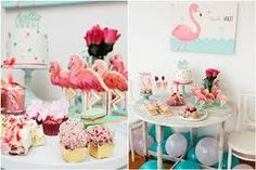 Sweet Flamingo-Party-Tablescape - - See more amazing party trends for 2016 at B… Baby Shower Fun, Baby Shower Favors, Baby Shower Parties, Girl Shower, Baby Birthday, First Birthday Parties, Birthday Ideas, Gold Party Decorations, Baptism Party
