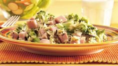 This no-fuss skillet dinner blends packaged rice mix with precooked ham and vegetables.