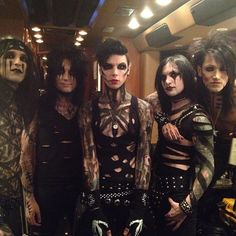 BVB wearing their classic war paint for Halloween!!! Ah the feels, it's so amazing they've grown up so much, and the fact they're wearing the old war paint style for a show is just ah (':