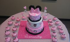 Baby Minnie Party Decorations | This was for a friend's first baby shower. She sent me a picture of ...