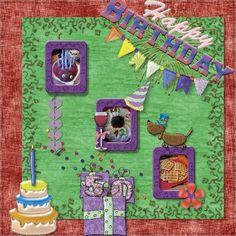 happy Birthday   Digital Scrapbooking at Scrapbook Flair