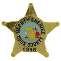"Cook County Deputy Sheriff Badge Pin 1"" by FindingKing. $9.50. This is a new Cook County Deputy Sheriff Badge Pin 1"""