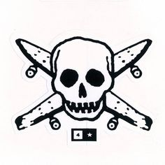 Fourstar Pirate skate logo. Possible tattoo idea.