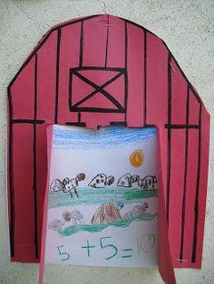 farm animal addition/ number sentence