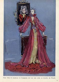 Worth 1939 Organza Evening Gown, Christian Bérard