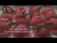 ▶ Pesche dolci all'alchermes con crema pasticcera - YouTube