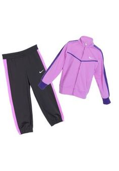 Comfortable and stylish, this kids' tracksuit from Nike includes a sporty jacket and track pants making the perfect active wear for your little ones. Snug fabric and elastic waist-band pants ensure a good, comfy fit. Ideal for playtime or school sports activities. School Outfits, Kids Outfits, Cute Outfits, Sporty Outfits, Athletic Outfits, Girls Sportswear, Girl Fashion, Fashion Outfits, School Sports