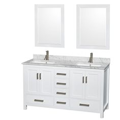 Shop for Wyndham Collection Sheffield 60-inch White Double Vanity. Get free delivery at Overstock.com - Your Online Furniture Outlet…