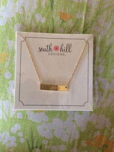 South Hills Design Love Bar Necklace Gold Toned Adjustable Lengths New   eBay