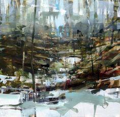 ALEX KANEVSKY Cold River, 2014 Oil on board 20 × 20 in 50.8 × 50.8 cm