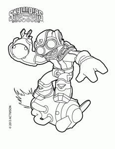 Skylanders Swap Force Coloring Pages