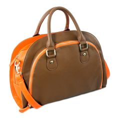 Part of 2013s hottest color blocking trend, this bag inspires you to take charge.