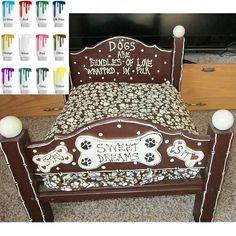 Custom Sweet Dreams Hand Made Pet Bed Large