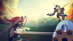 metalgarurumon vs. puppetmon by sir-rodrigues