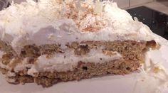 Τούρτα με βάση μπισκοτένια Vanilla Cake, Pie, Desserts, Food, Torte, Tailgate Desserts, Cake, Deserts, Fruit Cakes