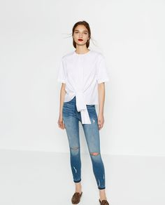 HIGH RISE SKINNY JEANS-High Waisted-JEANS-WOMAN   ZARA United States