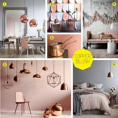 Image result for grey copper blush bedrooms