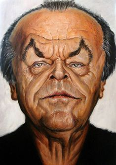 Jack Nicholson by Derren Brown. As if I needed another reason to admire him - as well as being an uber brain, the bastard can paint too!