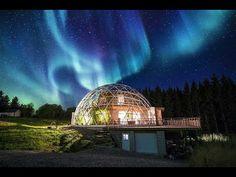 Семья из Норвегии построила дом под куполом, где тепло и уютно даже поля...