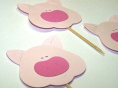 Pig Birthday Party  Set of 12 This Little by TheBirthdayHouse