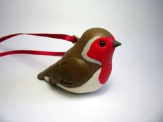polymer clay robin by Quernus Crafts