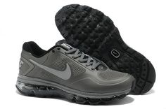 online store 185f1 8b4e2 Nike Air Max 2013 Men Drak Grey Black The Air Trainer Max Breathe Sneakers  by Nike Features  Mesh Exterior  Low top design  Rubber outsole with  waffle ...