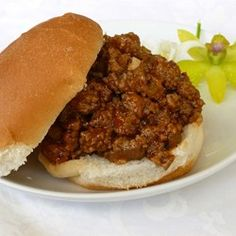 Sloppy Joes: 1 pound lean ground beef 1 ounce) can condensed chicken gumbo soup 2 T Ketchup 1 T. Sandwich Recipes, Meat Recipes, Cooking Recipes, Recipies, Dinner Recipes, Venison Recipes, Hamburger Recipes, Yummy Recipes, Dinner Ideas