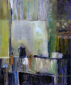 Benedicte Garnier Fihey -  La fenêtre de la cuisine, 2003, Huile sur toile, 46 x 55 cm.