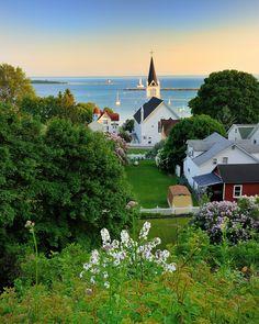 """""""Harbor View """" Mackinac Island , Michigan"""