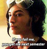 if you fail me, you get me next semester