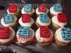 The car in The hat birthday cupcakes. Visit us Facebook.com/marissa'scake or www.elmanjarperuano.com