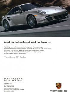 Porsche 911 Turbo ad