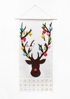 Advent Calendar Pattern  Rudolph the Red-Nosed by SugarHouseShop