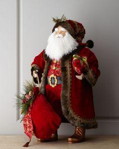 """""""Bordeaux"""" Santa, 36""""T at Horchow.  Love this it's mine!"""