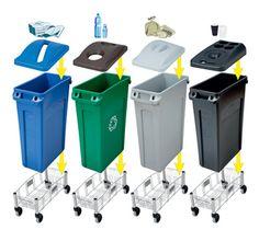 four slim recycling bins - Google Search