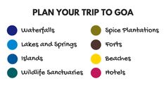 List of places to visit and things to do in Goa, India. Plan your trip to Goa with an interactive map. Popular tourist attractions and offbeat places. Use the list as a starting point as your travel guide and trip planner!