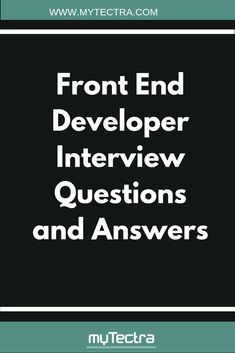 Most frequent Front End Developer Interview Questions and Answers for freshers and expereinced with detailed answers are here, Happy job Hunt. Learn Programming, Computer Programming, Computer Science, Programming Languages, Web Design Tips, Web Design Tutorials, Design Trends, Question And Answer, This Or That Questions