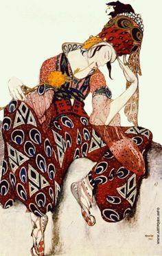 Эскиз костюма для Вацлава Нижинского к хореографической поэме Поля Дюка