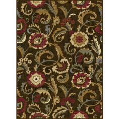 Bliss Rugs Wilkes Transitional Area Rug, Brown