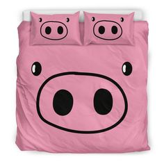 Pig bedding set - 06 Bedding set comes with one duvet cover and two pillowcases. Beige Bedding Sets, Black Bedding, Linen Bedding, Comforter Sets, This Little Piggy, Little Pigs, Ideas Habitaciones, Murphy Bed Ikea, Cute Bedding