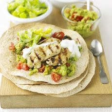 Lime & Pepper Chicken Wraps