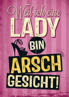 Postkarte – Lady
