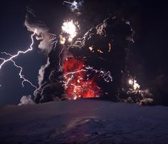 Photographer Ragnar Th. Sigurdsson photographs of the eruption of Eyjafjallajokull Volcano in Iceland