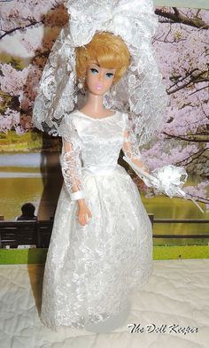 Beautiful OOAK Wedding Dress Outfit by The doll keeper, via Flickr