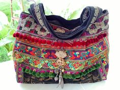 Hmong Old Vintage Hill Tribe Bag Ethnic Embroidered by KateRinaHM