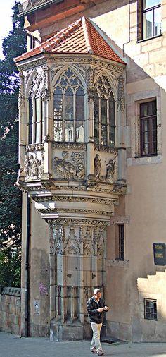 Beautiful oriel window in Nuremberg