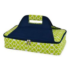 Picnic At Ascot Insulated Casserole Carrier In Green