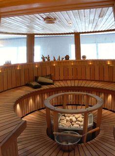 Luxury Home Sauna Sauna Lights, Portable Steam Sauna, Sauna Heater, Yurt Living, Spa Rooms, House Rooms, Outdoor Baths, Outdoor Sauna, Sauna Design
