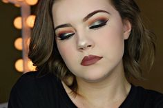 """Buxom Iridescent Shadow in """"Just Jaded"""" on the eyelids. Anastasia Beverly Hills modern Renaissance in the crease. Urban decay """"blackout"""" in outer v. Instagram: justwingit_"""